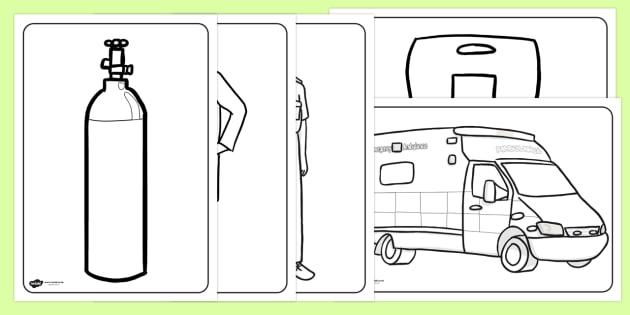 free ambulance service coloring pages ambulance