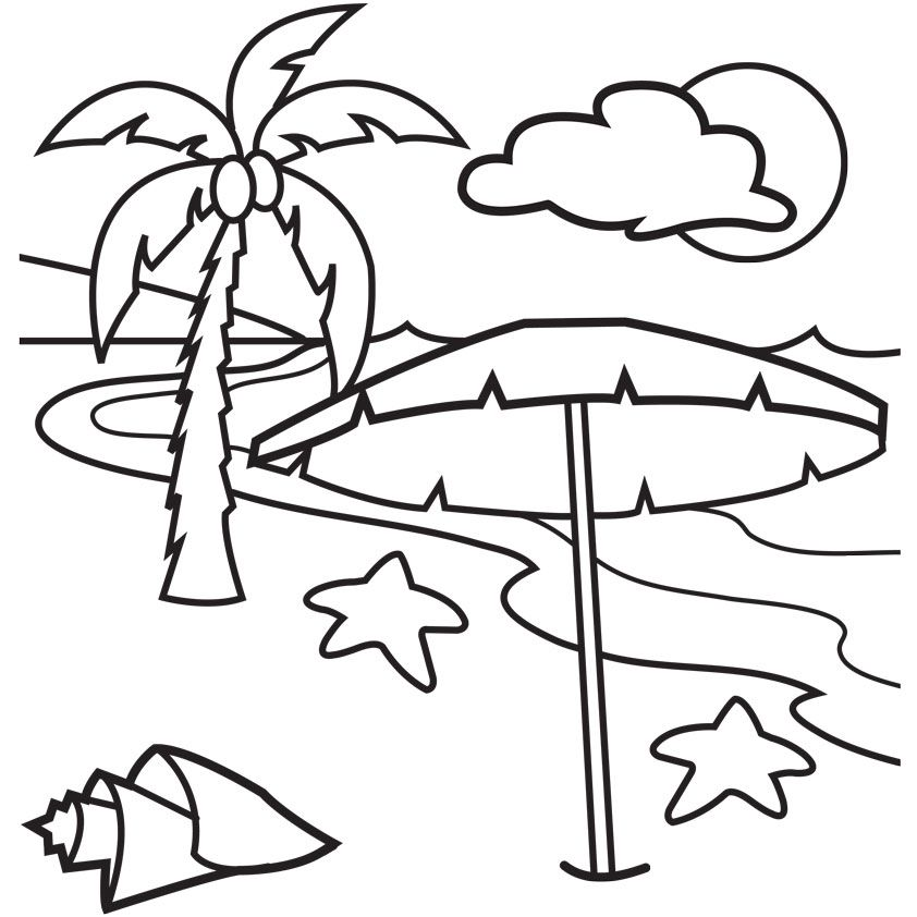 free beach scene coloring pages download free clip art