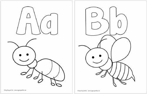 free coloring page alphabet pusat hobi