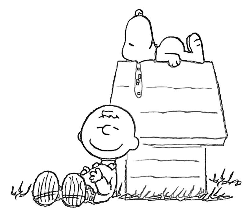 free coloring page of snoopy on his house printable snoopy