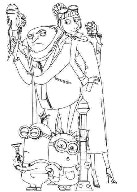 free coloring pages despicable me 3 huangfei