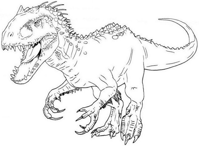 free coloring pages jurassic world pusat hobi