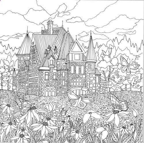 free coloring pages landscapes printables pusat hobi