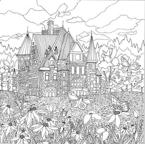 free coloring pages landscapes printables pusat hobi