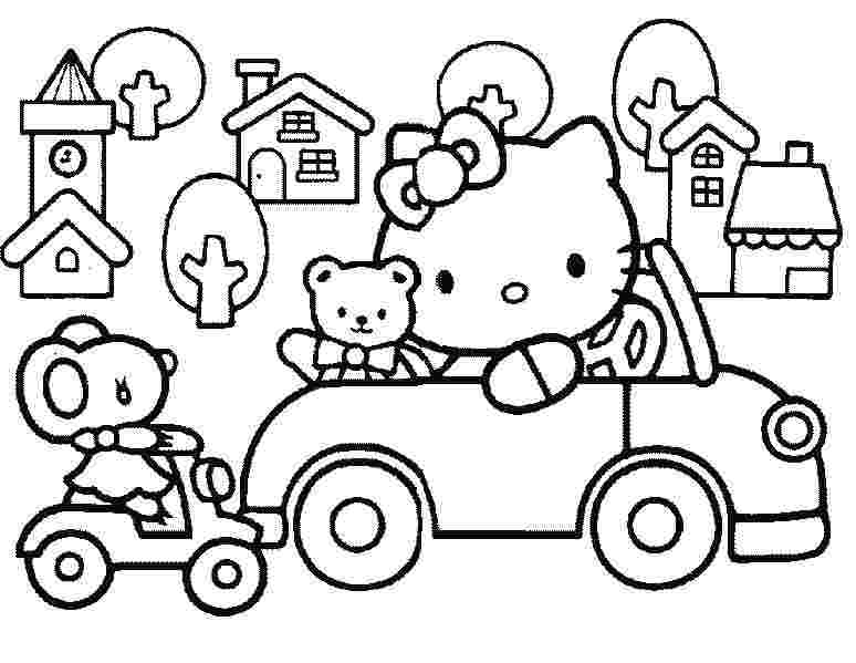 free coloring pages of hello kitty and friends hello kitty