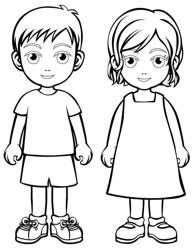 free coloring sheets of people download free clip art free