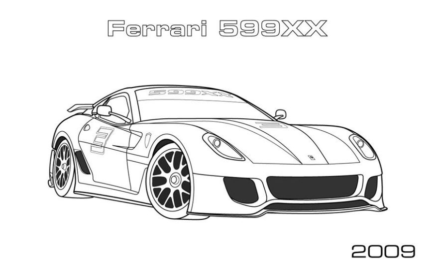 free ferrari coloring pages download free clip art free