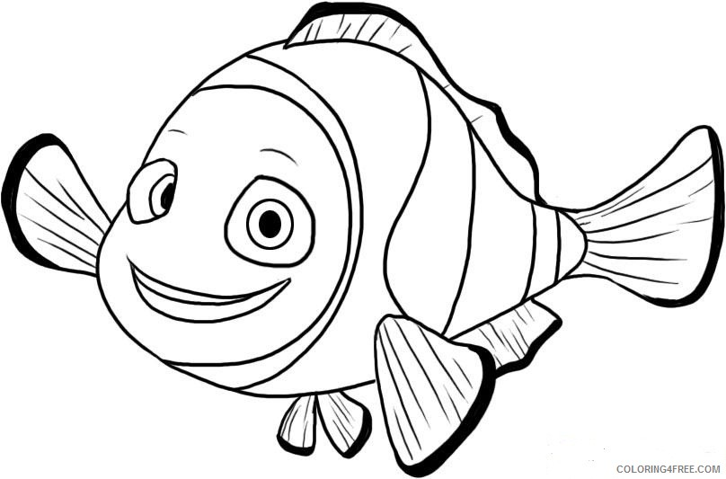 free finding nemo coloring pages for kids coloring4free