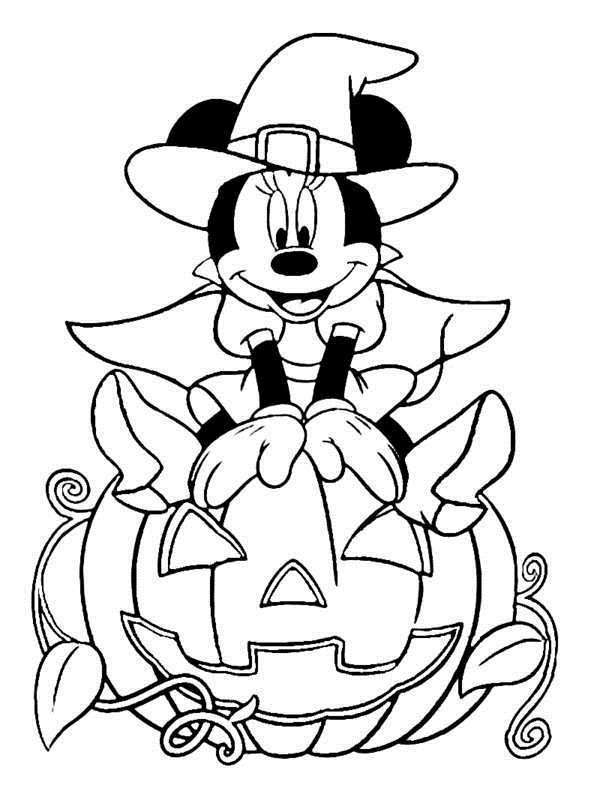 free free printable disney halloween coloring pages