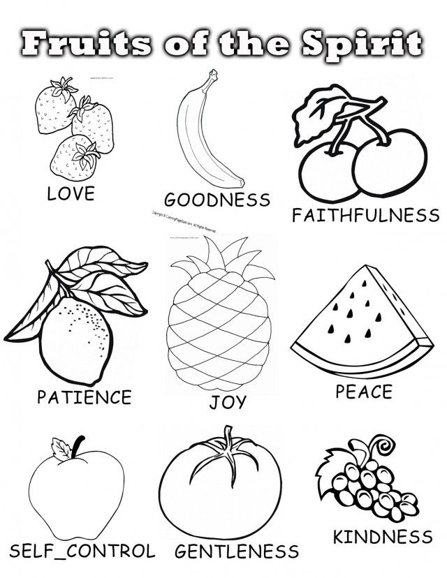 free fruits of the holy spirit coloring pages download free