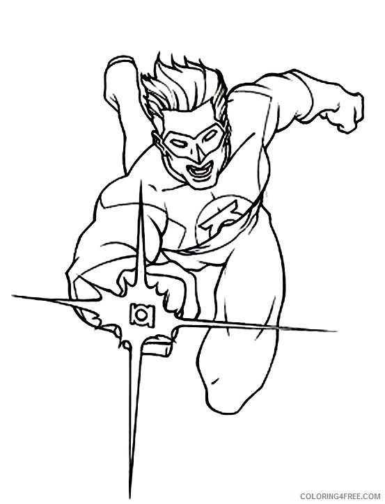 free green lantern coloring pages for kids coloring4free