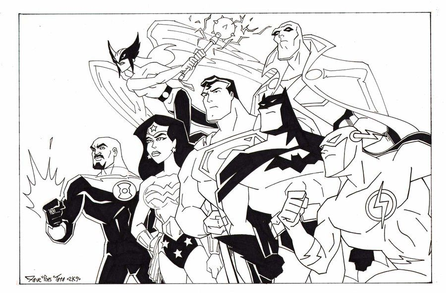 free justice league coloring pages to print download free