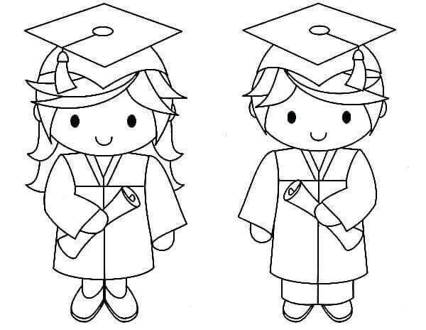 Graduation Coloring Pages Idea Whitesbelfast