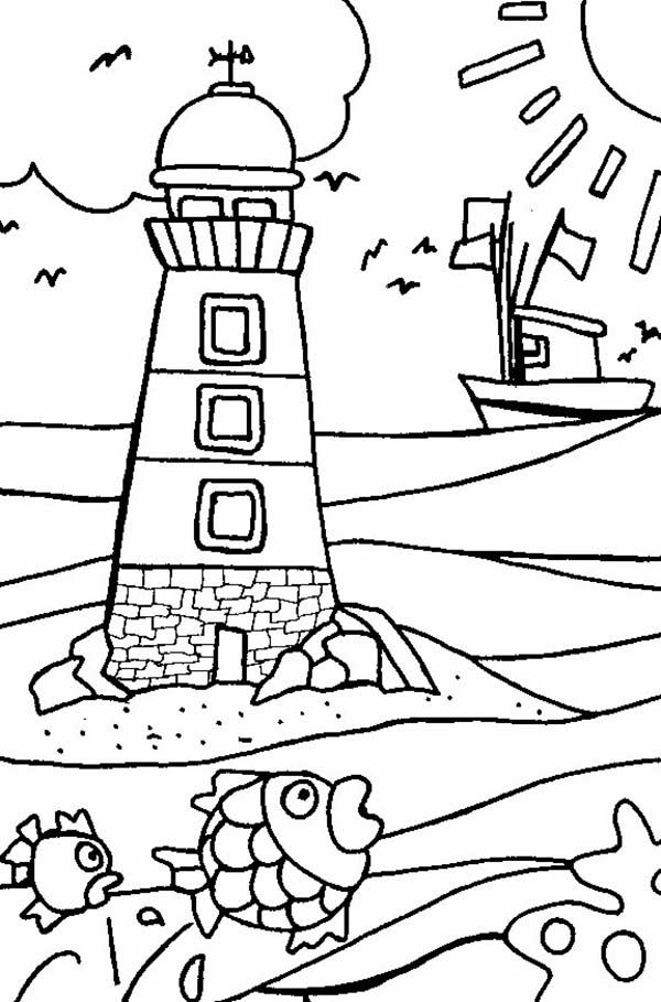 free lighthouse coloring pages to print for kids download