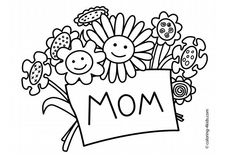 free mothers day coloring pages for the kids to color