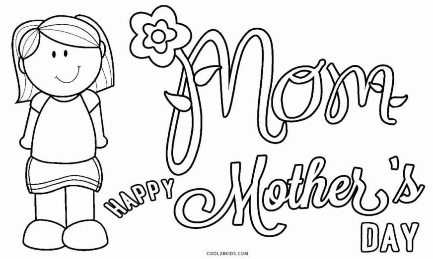 free mothers day coloring pages printable for kids