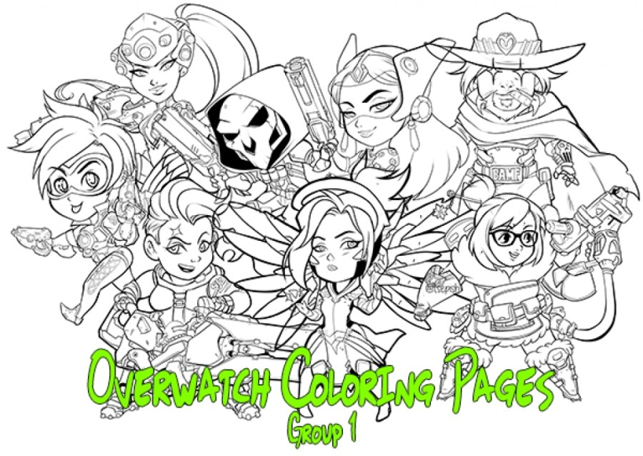 free overwatch coloring pages