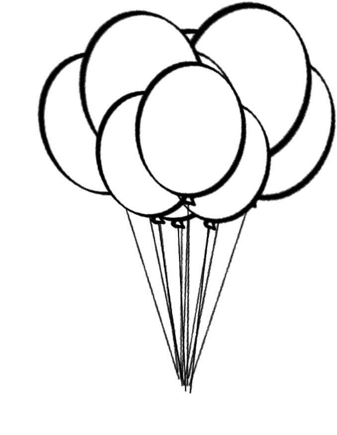 free pictures of balloons to color download free clip art