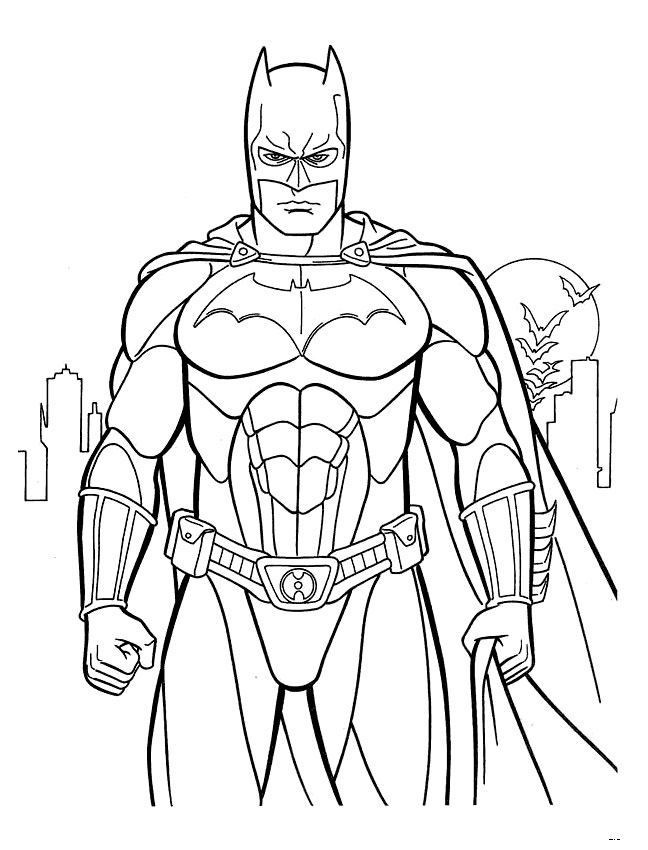 free pictures of batman to color download free clip art