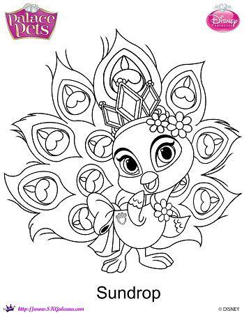 free princess palace pets sundrop coloring page kostenlose