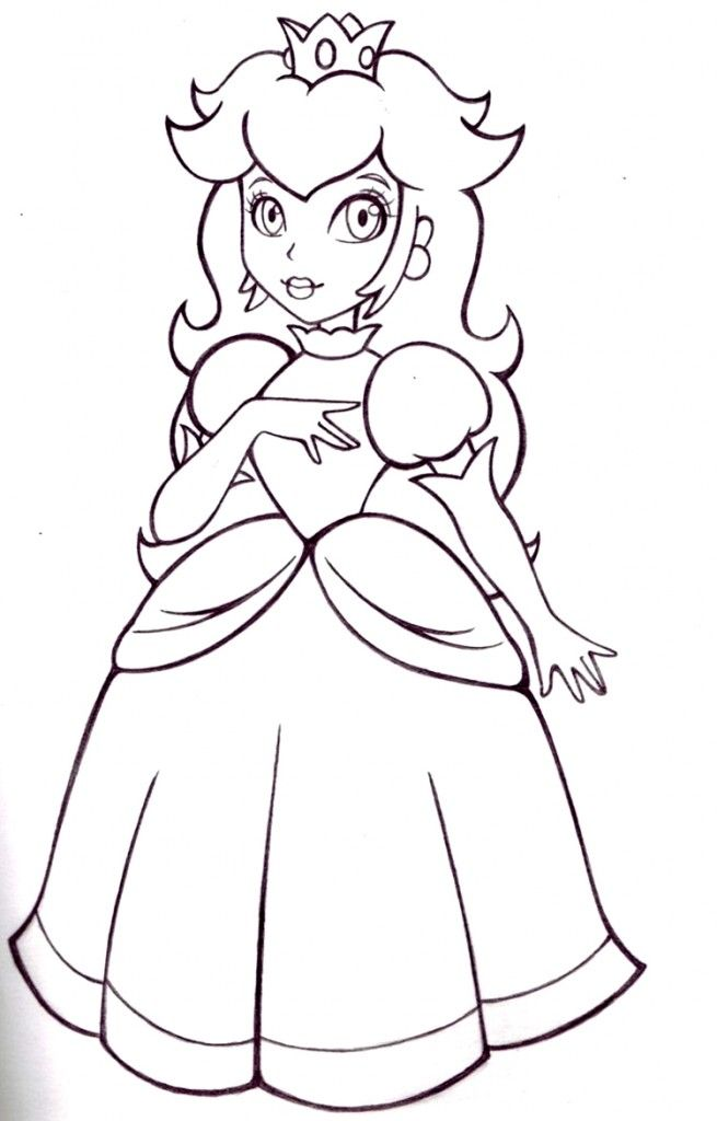 free princess peach coloring pages for kids ausmalbilder