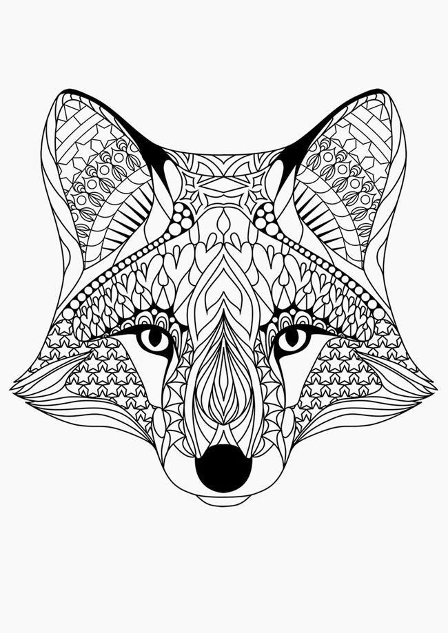 free printable animal coloring pages for adults at