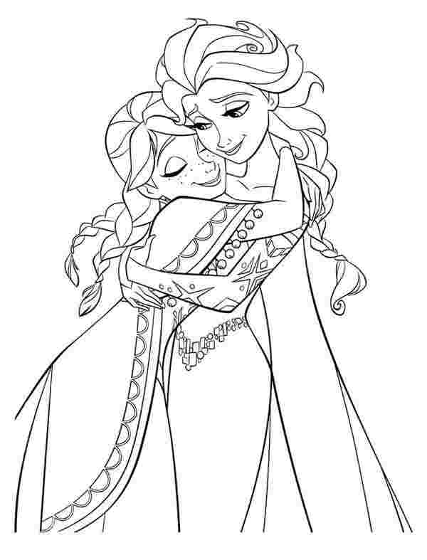 free printable anna and elsa coloring pages 1000 images