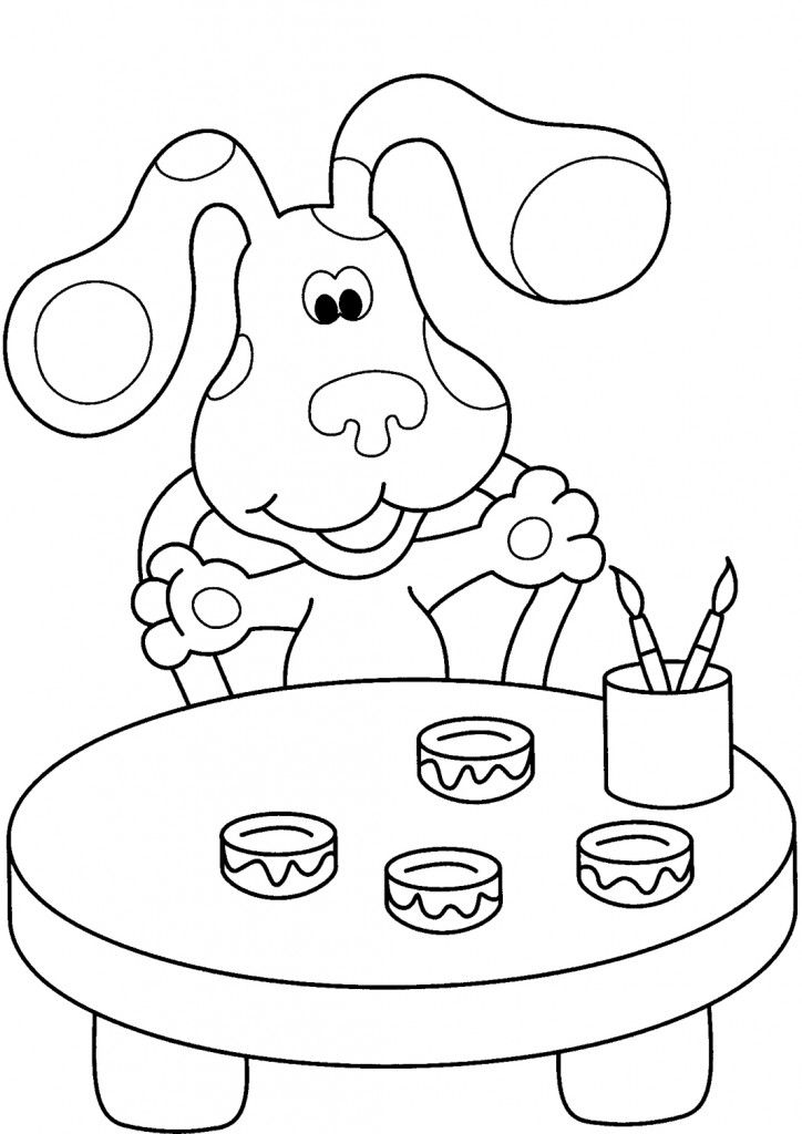 free printable blues clues coloring pages for kids nick jr