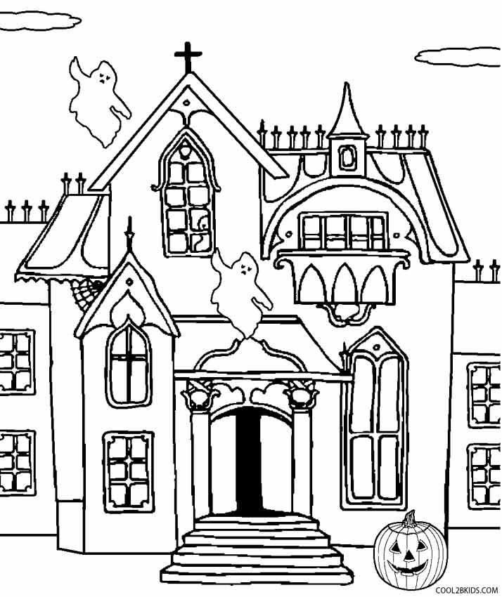 free printable coloring page mansion pusat hobi