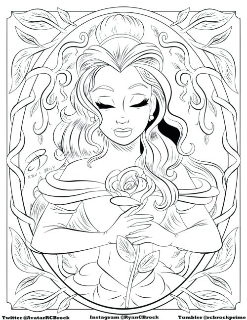 free printable coloring pages for adults disney pusat hobi