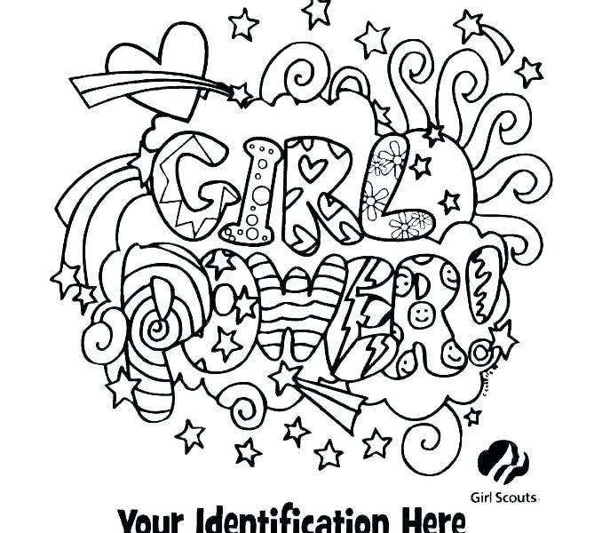 free printable coloring pages for kids girl scouts