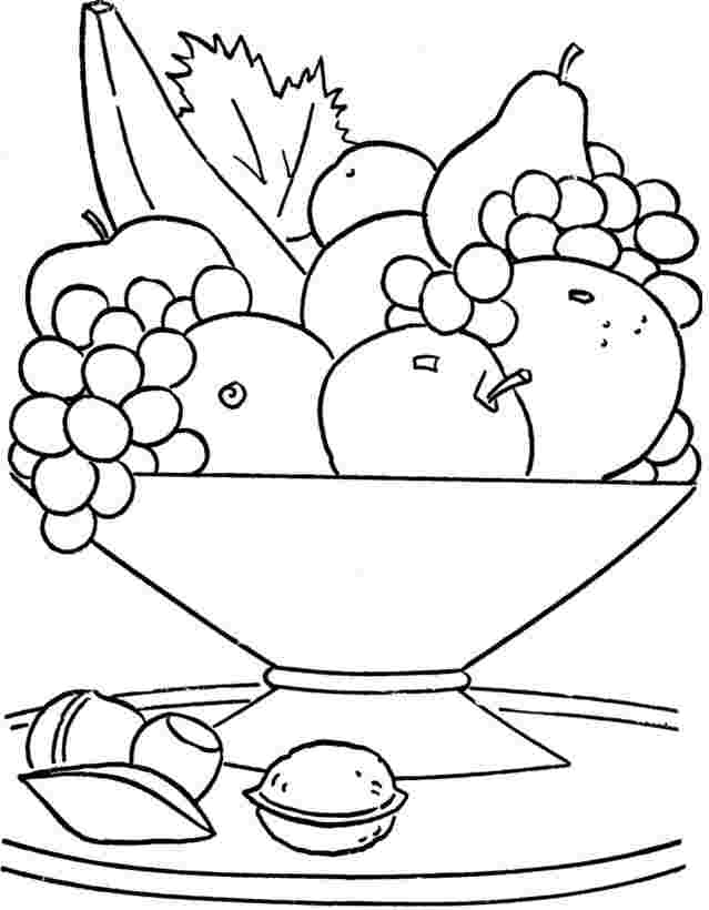 free printable coloring pages fruit bowl fruit bowl coloring