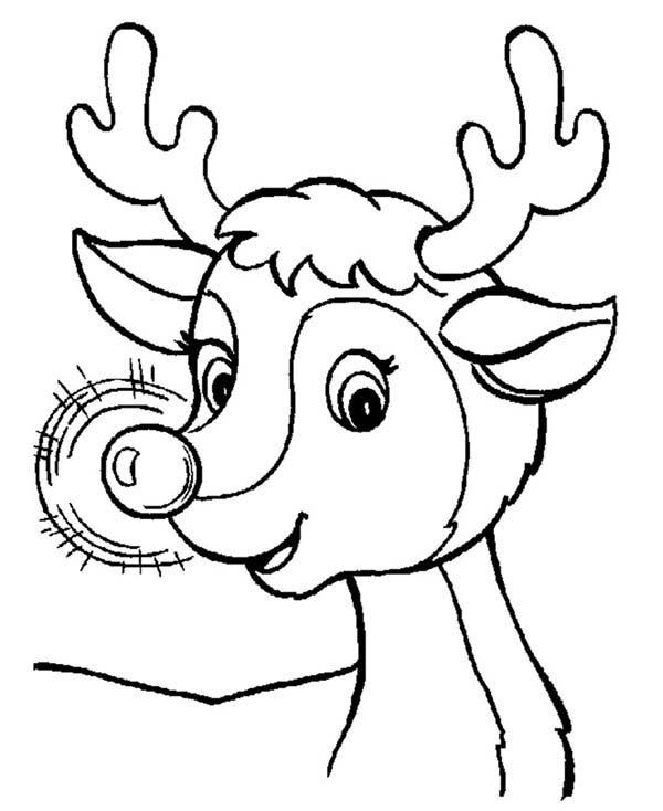 free printable coloring pages reindeer pusat hobi