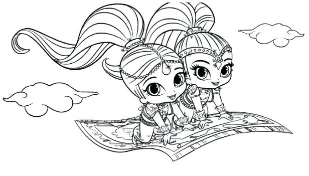 free printable coloring pages shimmer and shine pusat hobi