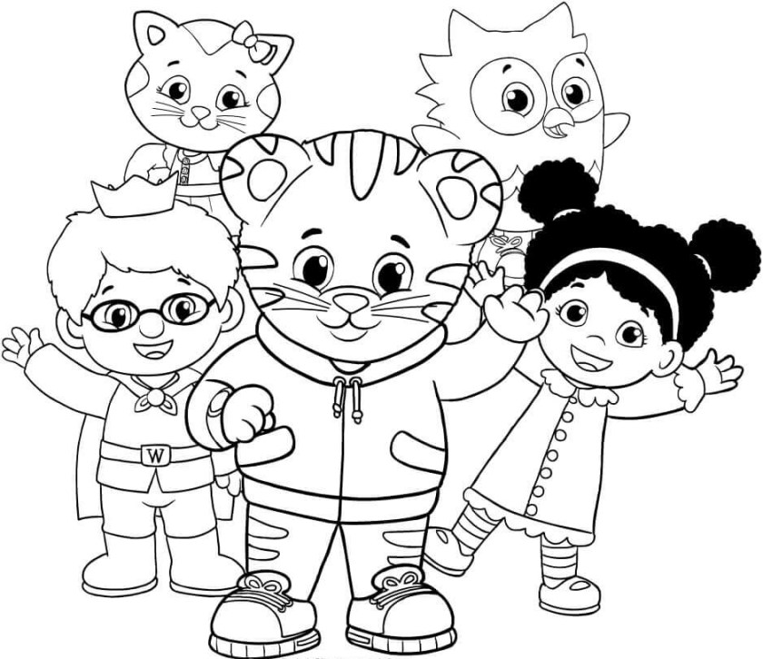 free printable daniel tiger coloring pages