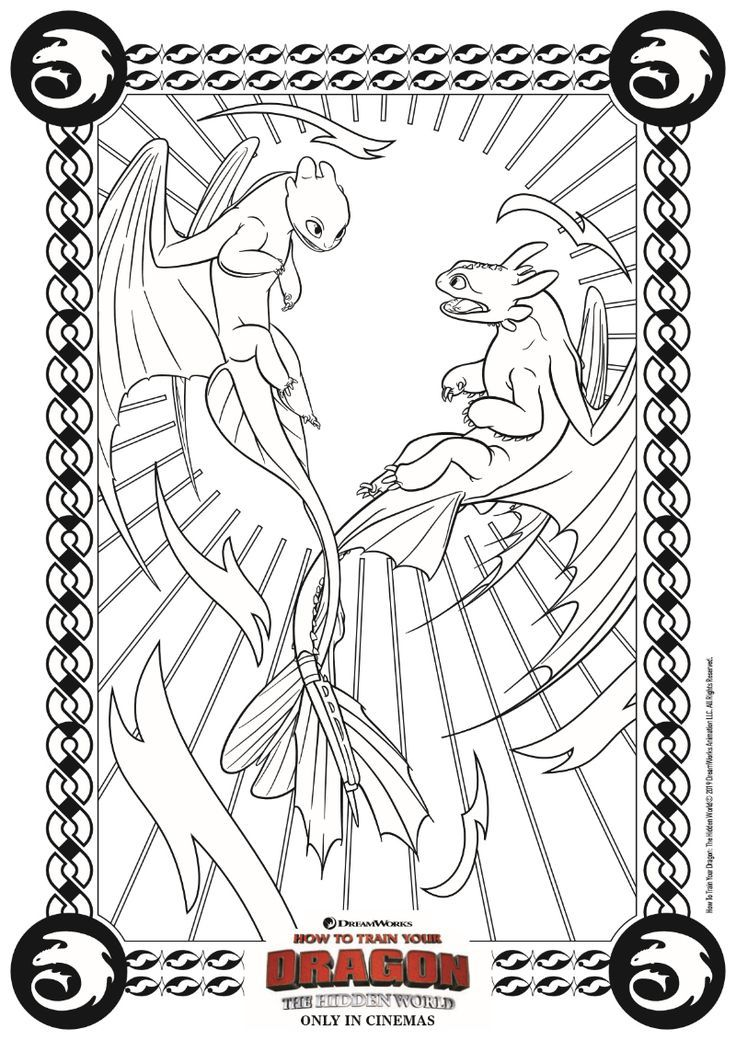 free printable dragon coloring page from how to train your