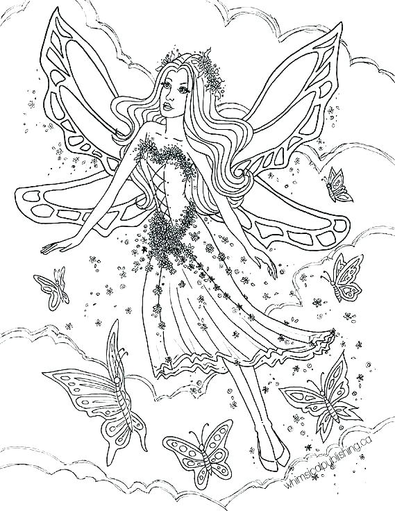 free printable fairy coloring pages for adults ry color ries