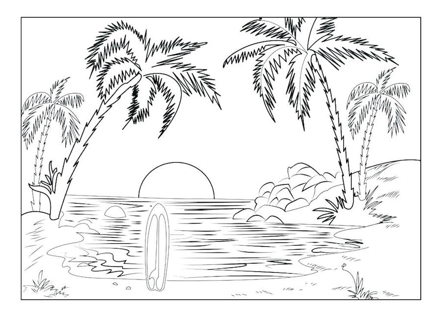 free printable hawaii coloring pages and related links