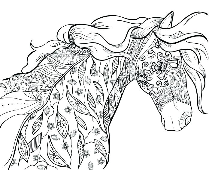 free printable horse coloring pages for adults at