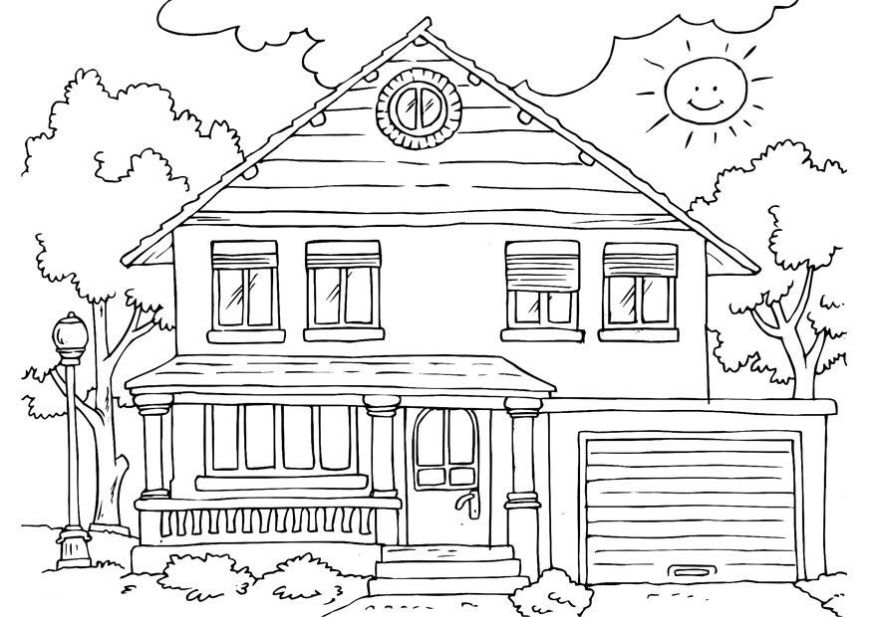 free printable house coloring pages for kids house