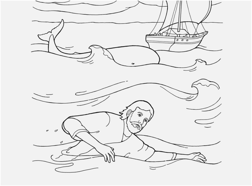free printable jonah and the whale coloring pages portraits