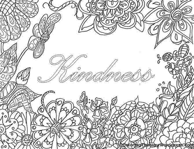 Kindness Coloring Pages Pictures - Whitesbelfast
