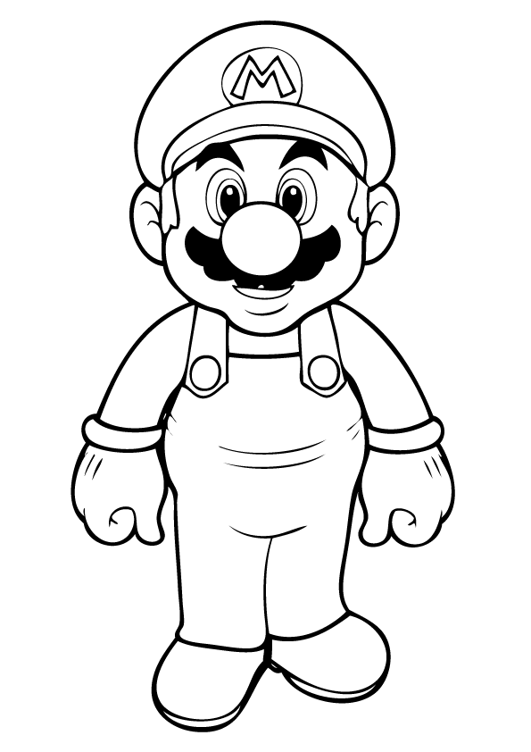 free printable mario coloring pages for kids kids