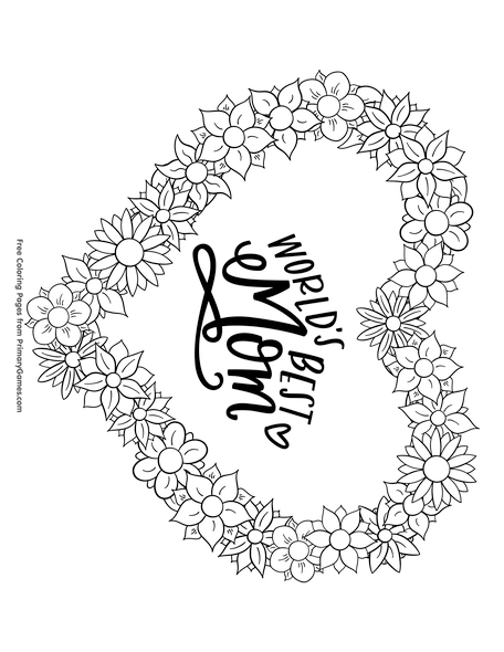 free printable mom coloring pages