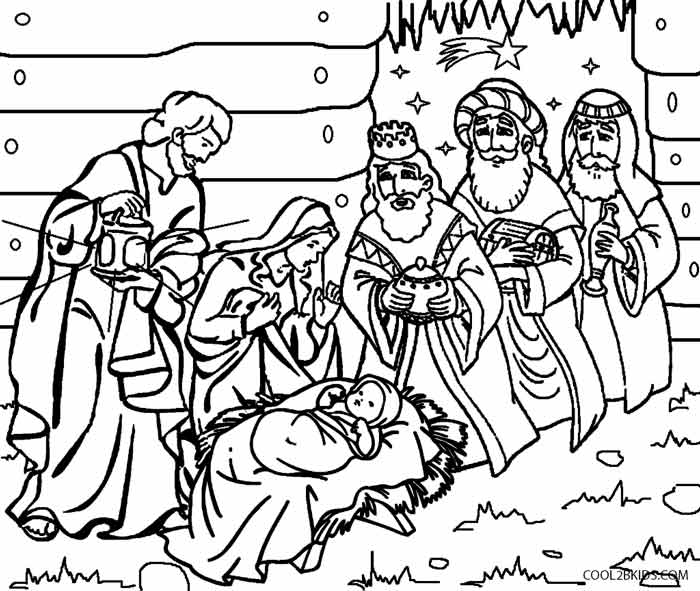 free printable nativity scene coloring pages at getdrawings