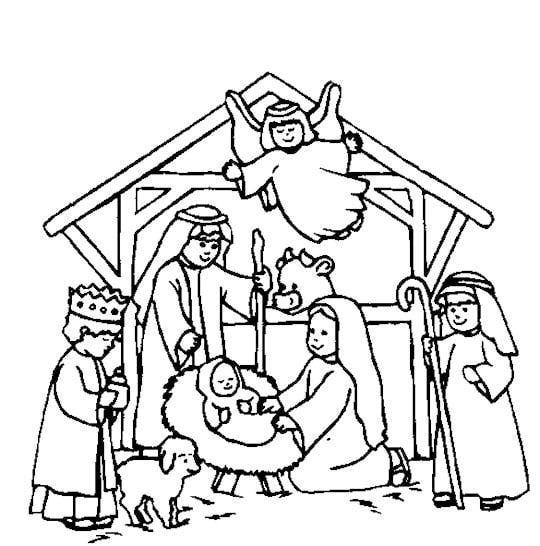 free printable nativity scene coloring pages nativity