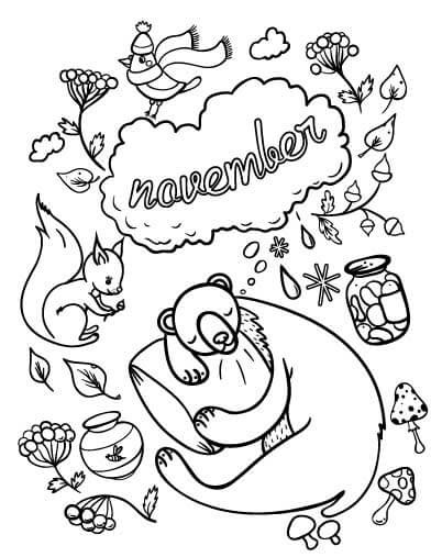 free printable november coloring pages for kids top