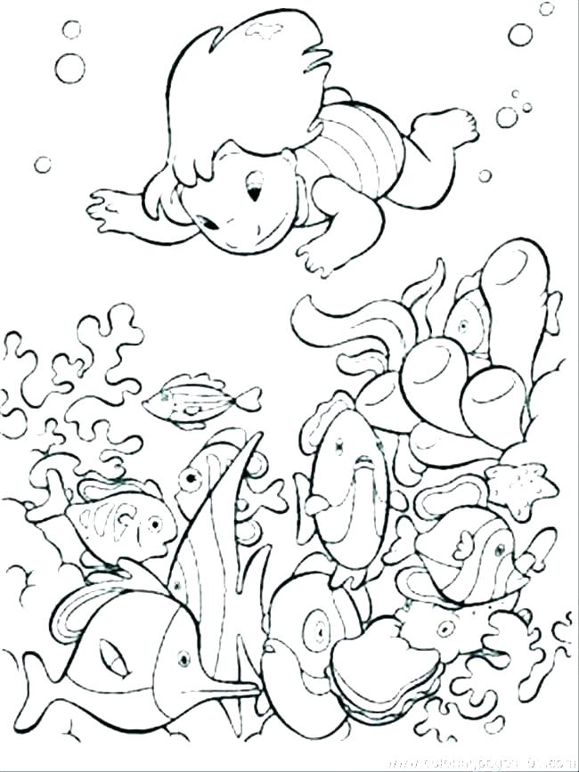 free printable ocean coloring pages beach themed for kids