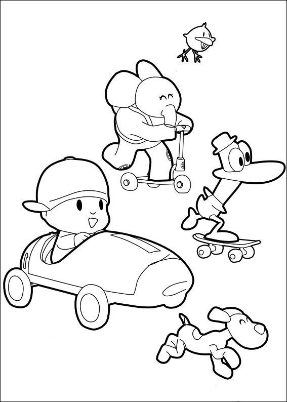 free printable pocoyo coloring pages for kids pocoyo