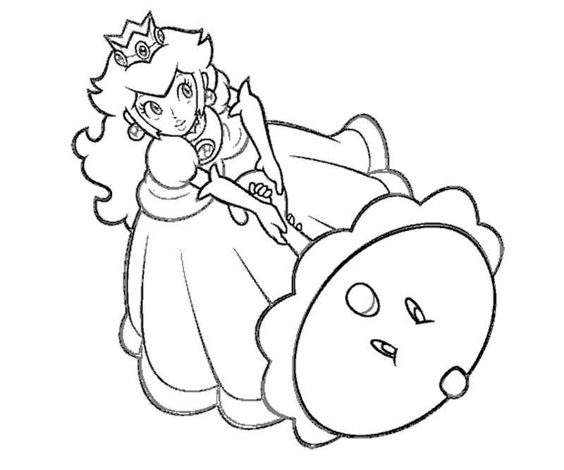 free printable princess peach coloring pages download free